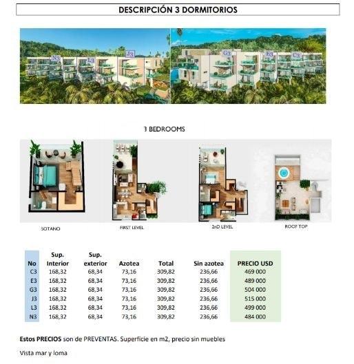 Apartamento en venta 3 hab